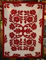 "Amy Bendtsen - Authentic Hawaiian Quilt Wall Hanging - Lokelani - 42"" x 56"""