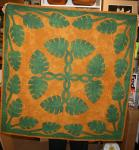 Authentic+Hawaiian+Quilt+Wall+Hanging+-+Monstera+-+42%22+x+42%22
