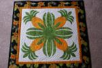 "Amy Bendtsen - Authentic Hawaiian Quilt Wall Hanging - Pineapple - 27"" x 27"""