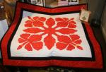 Authentic+Hawaiian+Quilt+Wall+Hanging+-+Hibiscus+-+27%22+x+27%22