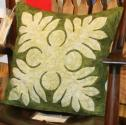 "Amy Bendtsen - Authentic Hawaiian Quilt Pillow Cover - Ulu Breadfruit - 20"" x 20"""