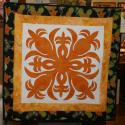"Amy Bendtsen - Authentic Hawaiian Quilt Wall Hanging - Pineapple - 32"" x 32"""