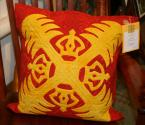 "Amy Bendtsen - Authentic Hawaiian Quilt Pillow Cover - Kahili - 20"" x 20"""