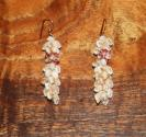 "Ni'ihau Shell Jewelry - Niihau Shell Momi & Kahelelani Dangle Earrings 2 1/2"" long"
