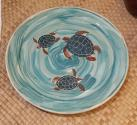 Sandy Sater - Honu Ocean Dinner Plate - Ceramic