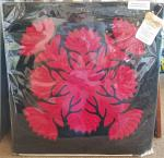Authentic+Hawaiian+Quilt+Pillow+Cover++-+Ohia+Lehua+-+20%22+x+20%22
