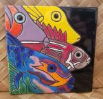 Fish+Group+Single+Ceramic+Hawaiian+Tile+6+x+6