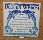 Dolphin+Wisdom+-+6%22+Hawaiian+Ceramic+Tile
