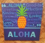 Aloha+Pineapple+-+Gallery+Wrap+Mini