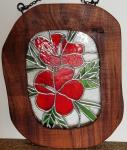 Stained+Glass+Hibiscus+Flowers+in+Koa+Frame